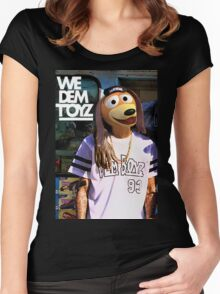 We Dem Toyz Slinky Women's Fitted Scoop T-Shirt