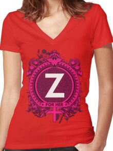 FOR HER - Z Women's Fitted V-Neck T-Shirt