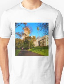 Early morn stroll - Treasury Gardens Melbourne Vic Australia (1) Unisex T-Shirt