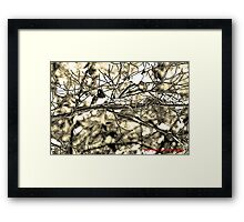 Dark-eyed Junco Sumi-e Framed Print