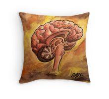 Watercolor Brain Throw Pillow
