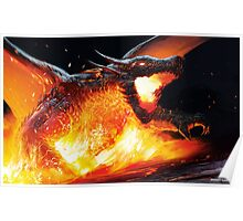 Volcanic Dragon Poster