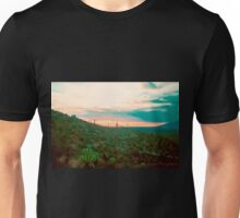 Green Cactus Sunset Unisex T-Shirt