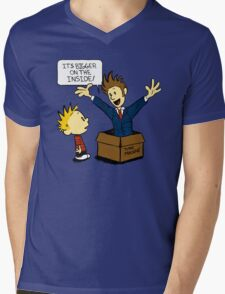 Calvin and the Doctor Mens V-Neck T-Shirt