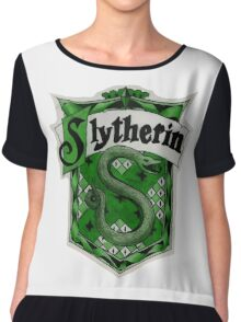 Slytherin Logo Chiffon Top