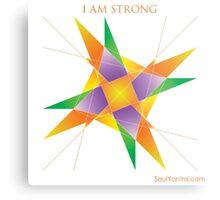 I AM STRONG - YANTRA Metal Print
