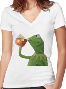 But that's none of my business Women's Fitted V-Neck T-Shirt