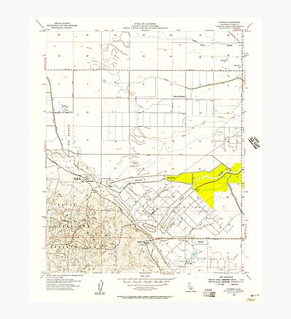 USGS TOPO Map California CA Tupman 301000 1954 24000 geo Photographic Print