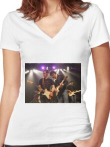 ARC Angels Guitar Duo Women's Fitted V-Neck T-Shirt
