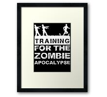 Training For The Zombie Apocalypse T Shirt Framed Print