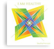 I AM HEALTHY - YANTRA Metal Print