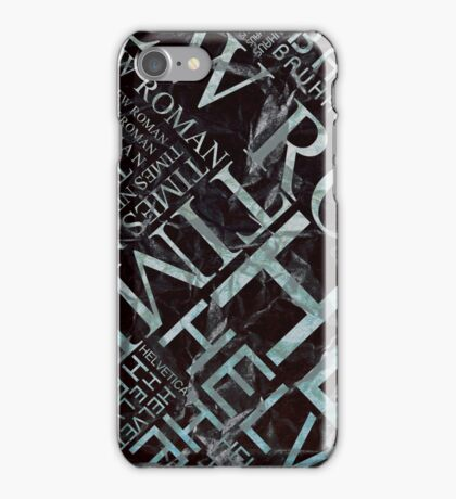 Fonts! iPhone Case/Skin