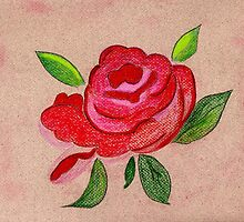 A Red Rose from my heart by Anne Gitto