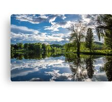 Mirrored Beauty Canvas Print
