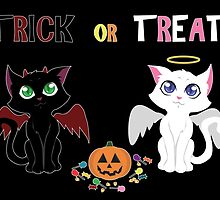 Trick or Treat Kittens by thekohakudragon