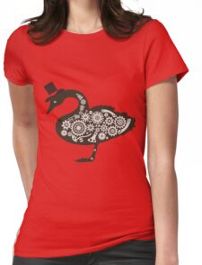 Steampunk victorian swan Womens Fitted T-Shirt
