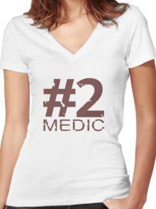 Medic Number 2 Mug - RED Women's Fitted V-Neck T-Shirt