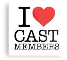 Cast Members Metal Print