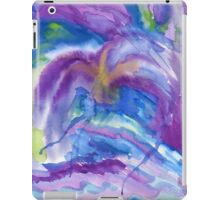 Abstract Watercolor Painting Blue Purple Green Yellow iPad Case/Skin