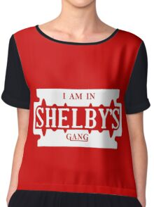 Peaky Blinders - I am in SHELBY'S Tshirt  Chiffon Top