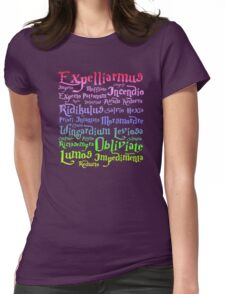 Harry potter magic spelling Womens Fitted T-Shirt