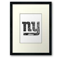 New York Giants Stadium Black and White Framed Print