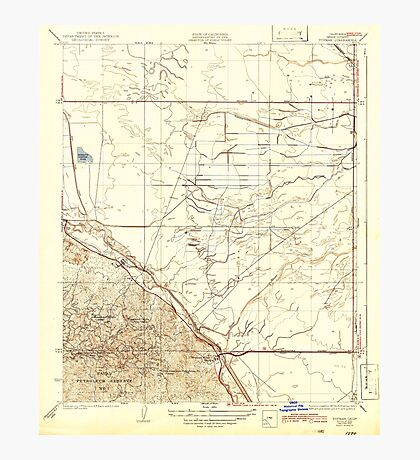 USGS TOPO Map California CA Tupman 301548 1933 31680 geo Photographic Print