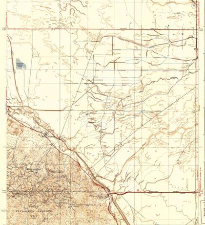 USGS TOPO Map California CA Tupman 301548 1933 31680 geo Sticker