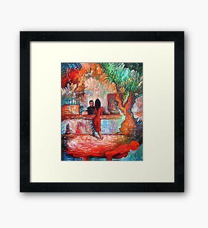 Plein Air Cafe Framed Print