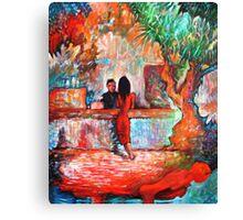 Plein Air Cafe Canvas Print