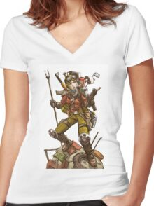 Preserver (Wasteland Scavenger) Women's Fitted V-Neck T-Shirt