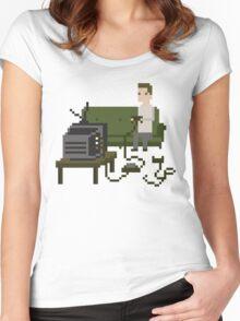 Gamer Pixel Art Women's Fitted Scoop T-Shirt