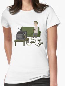 Gamer Pixel Art Womens Fitted T-Shirt
