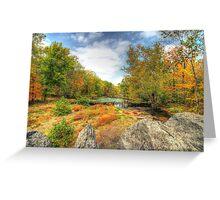 Autumn At The Creek - Green Lane - Pennsylvania - USA Greeting Card