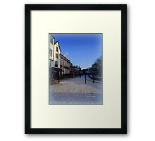 Snow at the Cathedral Close Framed Print