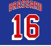 New York Rangers Derick Brassard Jersey Back Phone Case by Russ Jericho