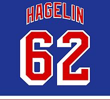 New York Rangers Carl Hagelin Jersey Back Phone Case by Russ Jericho