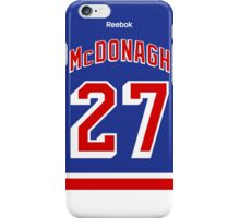 New York Rangers Ryan McDonagh Jersey Back Phone Case iPhone Case/Skin