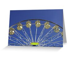 Top of the ferris wheel Greeting Card