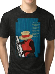 Praise and Worship Piano Player Tri-blend T-Shirt