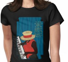 Praise and Worship Piano Player Womens Fitted T-Shirt