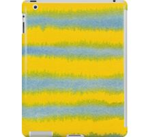 Abstract Hand-Painted Watercolor Stripes Blue Yellow iPad Case/Skin