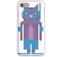Snorkel Swimmer Cat Pixel Art iPhone Case/Skin