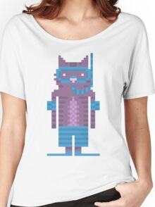 Snorkel Swimmer Cat Pixel Art Women's Relaxed Fit T-Shirt