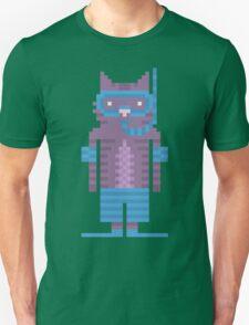 Snorkel Swimmer Cat Pixel Art T-Shirt