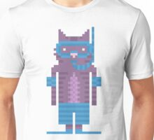 Snorkel Swimmer Cat Pixel Art Unisex T-Shirt