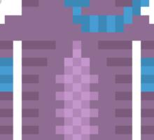 Snorkel Swimmer Cat Pixel Art Sticker