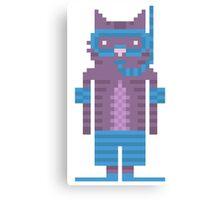 Snorkel Swimmer Cat Pixel Art Canvas Print