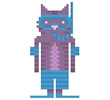 Snorkel Swimmer Cat Pixel Art Photographic Print