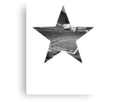 Dallas Cowboys Stadium Black and White Canvas Print
